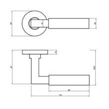 Tekening kruk Bauhaus