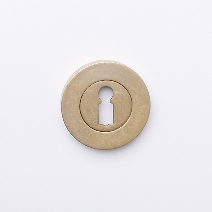 sleutelrozet rond 50mm oud messing