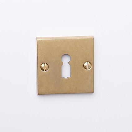 sleutelrozet 50x50 oud messing