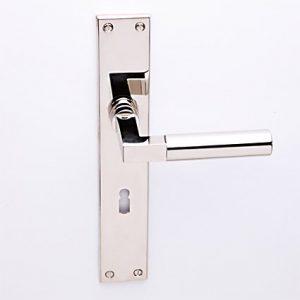 Bauhaus nikkel op schild met sleutelgat