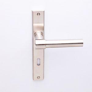 Deurkruk Weimar L-model matnikkel op smalschild met sleutelgat