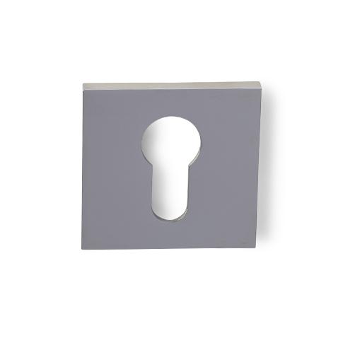 Cilinderrozet dun vierkant nikkel