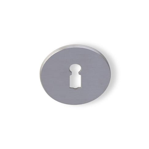 sleutelrozet dun rond matnikkel